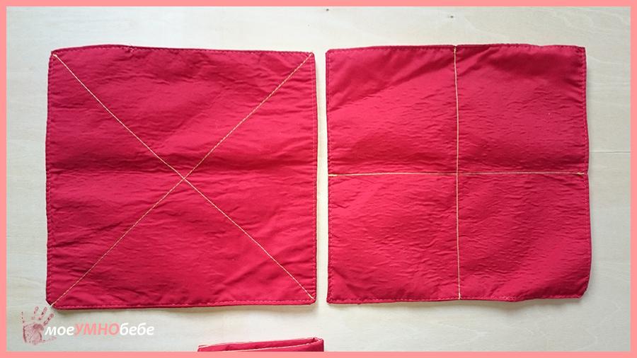 монтесори кърпи за сгъване