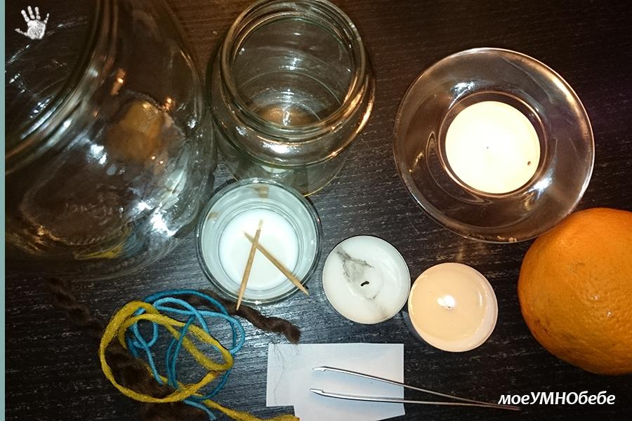 опити със свещ