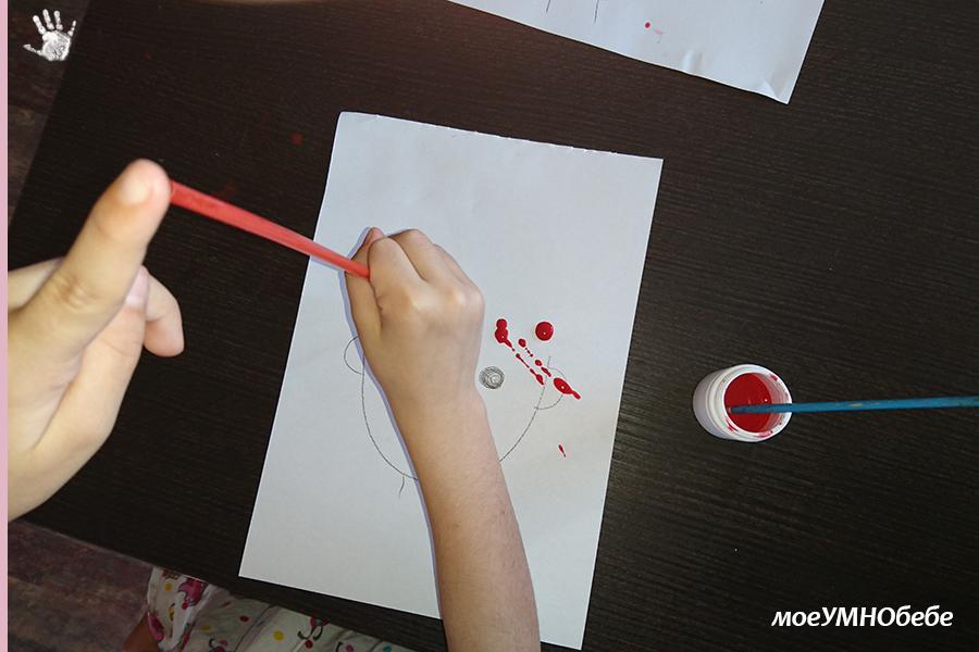 рисуване със сламка